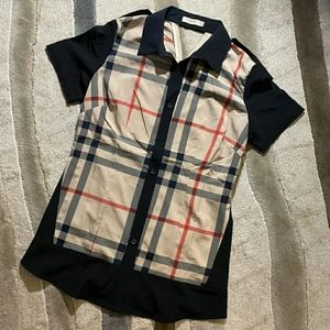 Authentic Burberry button up blouse